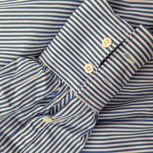 J. Crew Tops - nwt jcrew stretch tailored blue stripe bodysuit